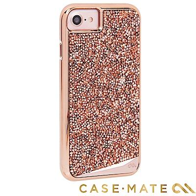 美國 Case-Mate iPhone 8 時尚水鑽雙層防摔手機保護殼 - 玫瑰金
