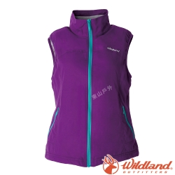 Wildland荒野 W2709-53紫色  女防潑水防風保暖背心