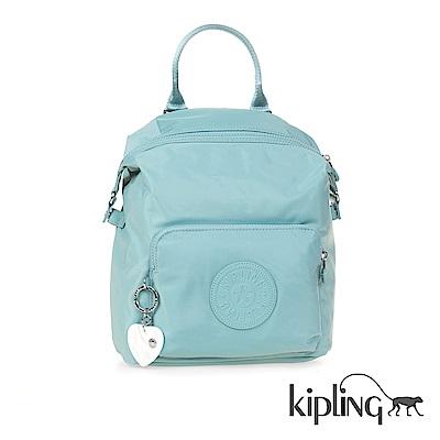 Kipling 後背包 碧藍素面-小
