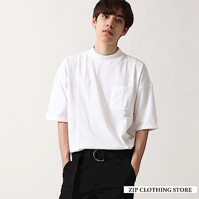美國棉寬版短袖T恤(3色) ZIP日本男裝
