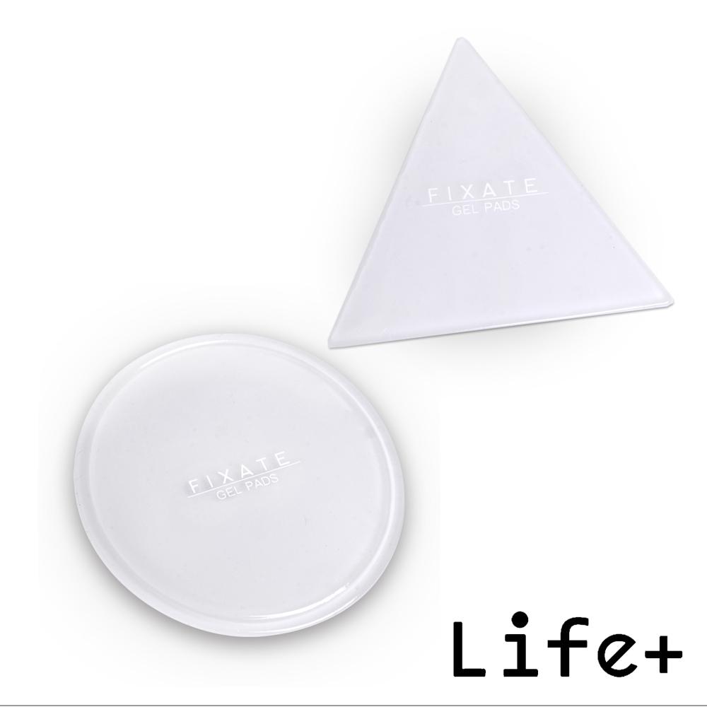 Life Plus 無痕隨行矽膠貼墊/萬用貼/隨手貼 (透明-三角+圓形)