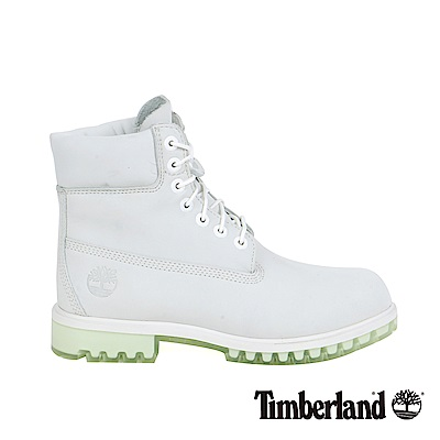 Timberland 男款白色絨面TPU款6吋靴