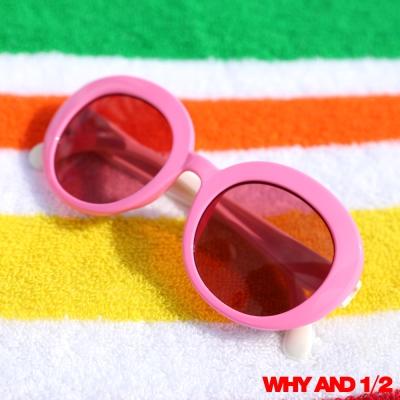 WHY AND 1/2 兒童配件 甜美可愛太陽眼鏡 桃紅