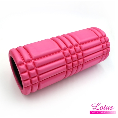 瑜珈柱 EVA瑜珈滾筒 按摩滾筒-LOTUS-桃紅色