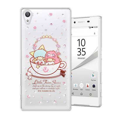 三麗鷗 雙子星仙子 SONY Xperia Z5 5.2吋 水鑽系列軟式手機殼(...