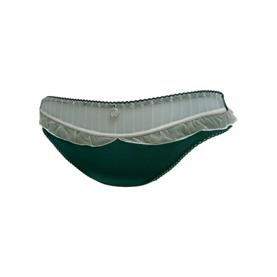 【瑪登瑪朵】亮點Bra 低腰三角棉褲(寶石綠)