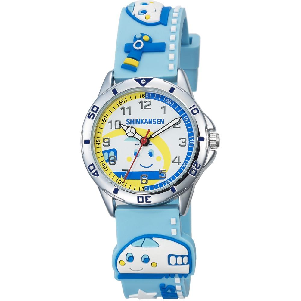 HELLO KITTY 新幹線百變英雄手錶-天空藍/34mm