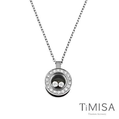 TiMISA《轉動幸福-精巧版》純鈦項鍊(E)