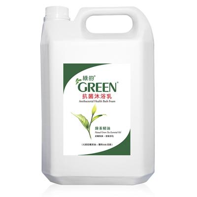 綠的GREEN 抗菌沐浴乳加侖桶-綠茶精油3800ml