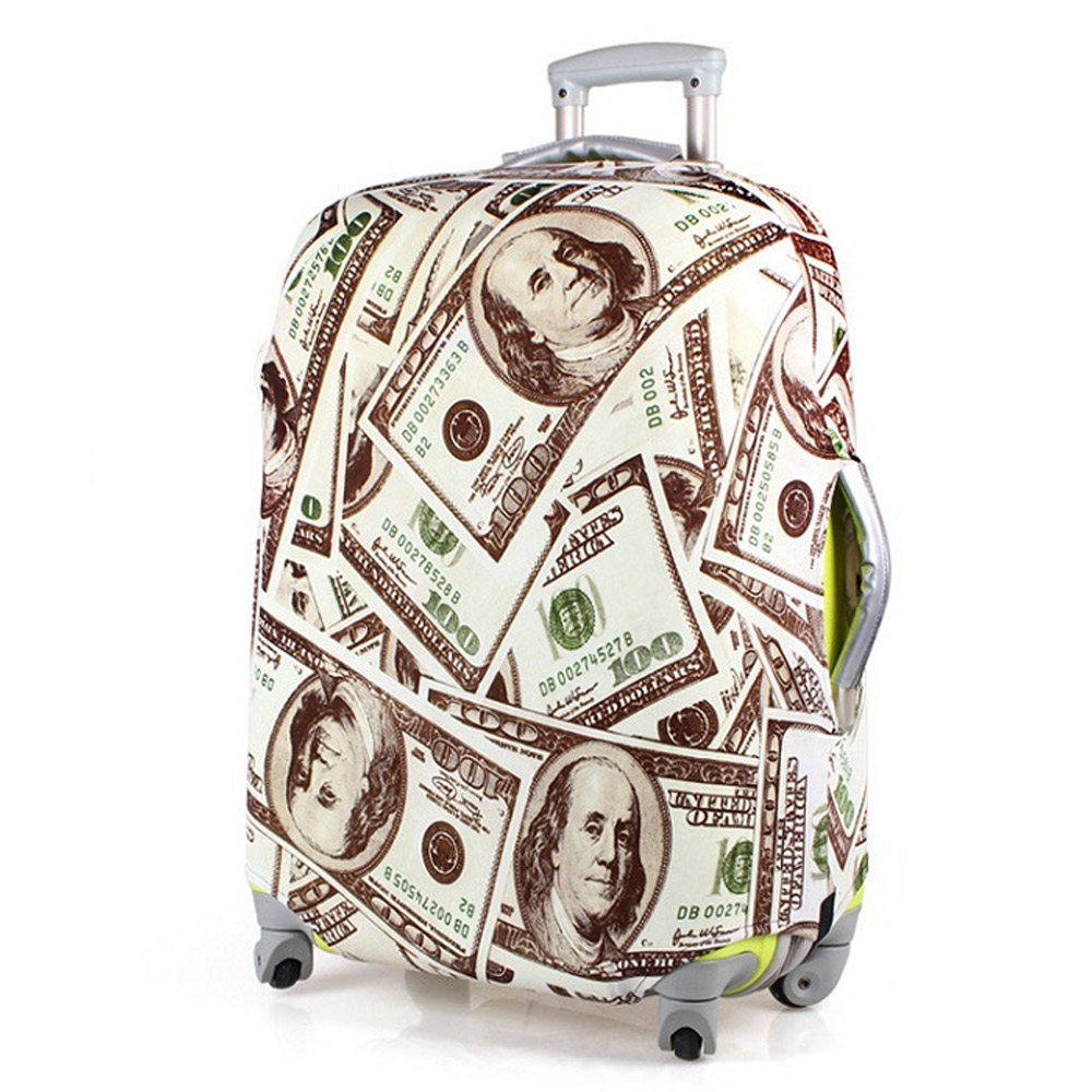 PUSH! 旅遊用品SHOW ME MONEY行李箱彈力保護套防塵套拖運套24寸