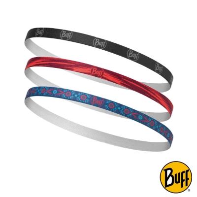 《BUFF》彈性快乾髮帶(3入/組) 知性氣息 BF115073-555-10-00