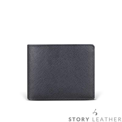 STORYLEATHER Style 90491 牛皮短夾 午夜藍現貨