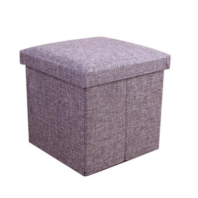 簡約麻布收納椅38x38x38cm(灰色)