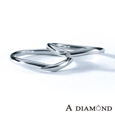 A Diamond 亞立詩鑽石 The vow 鉑金 結婚戒指-男女對戒