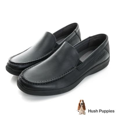 Hush Puppies Bounce 超彈力舒適紳士便鞋-黑色