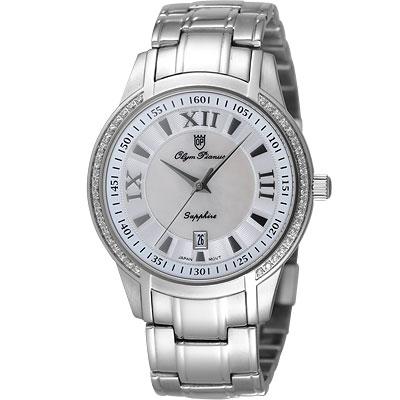 Olympianus 經典魅力晶鑽腕錶-銀