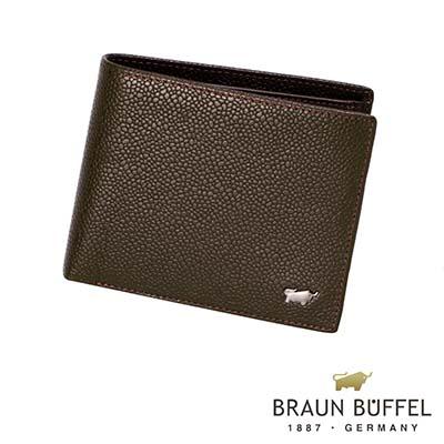 BRAUN BUFFEL - CHUCHO丘喬系列4卡零錢皮夾 - 可可色