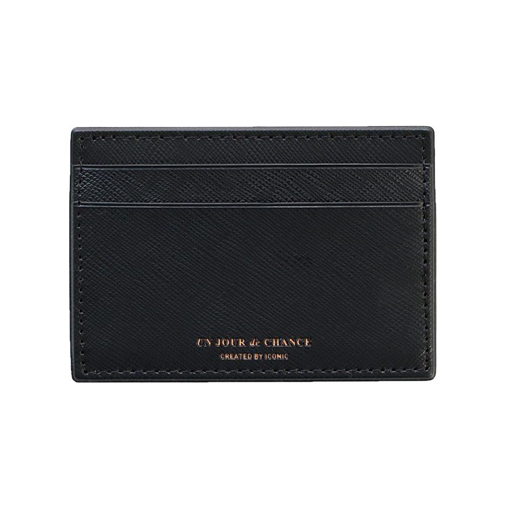 ICONIC Lady經典皮革票卡夾Ver2-氣質黑
