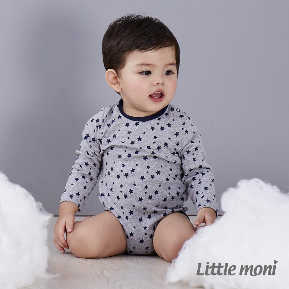 Little moni 純棉家居系列印花長袖包屁衣 (共2色)