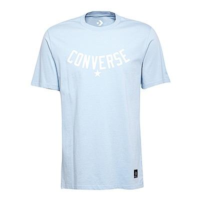CONVERSE-男休閒短T恤10005821-A03-水藍
