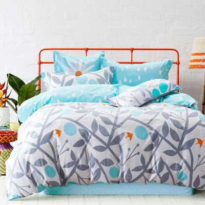 Ania Casa 台灣製 超厚美肌磨毛 - 單人床包枕套二件組- 剪影