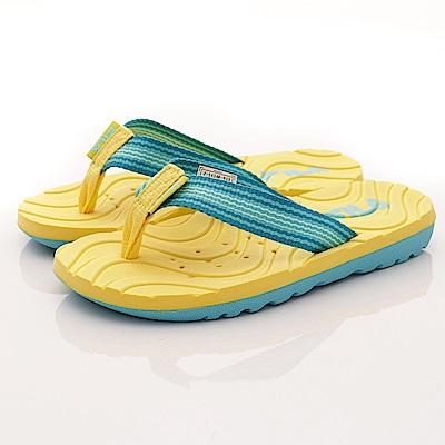 FILA頂級童鞋 輕量排水拖鞋款 FO34R-933黃藍(中大童段)C