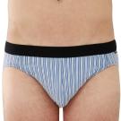 SOLIS 百搭條紋系列M-XXL竹碳纖維貼身三角褲(尊爵藍)