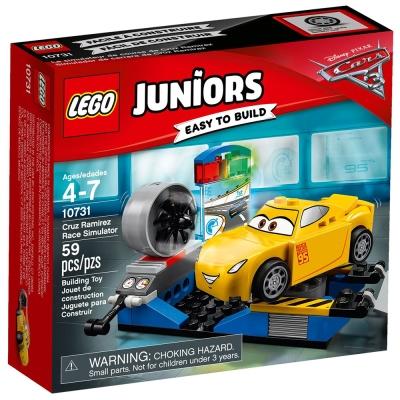 LEGO樂高Juniors系列10731 CARS汽車總動員克魯茲的賽車模擬器