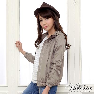 Victoria 連帽抗UV外套-女-卡其