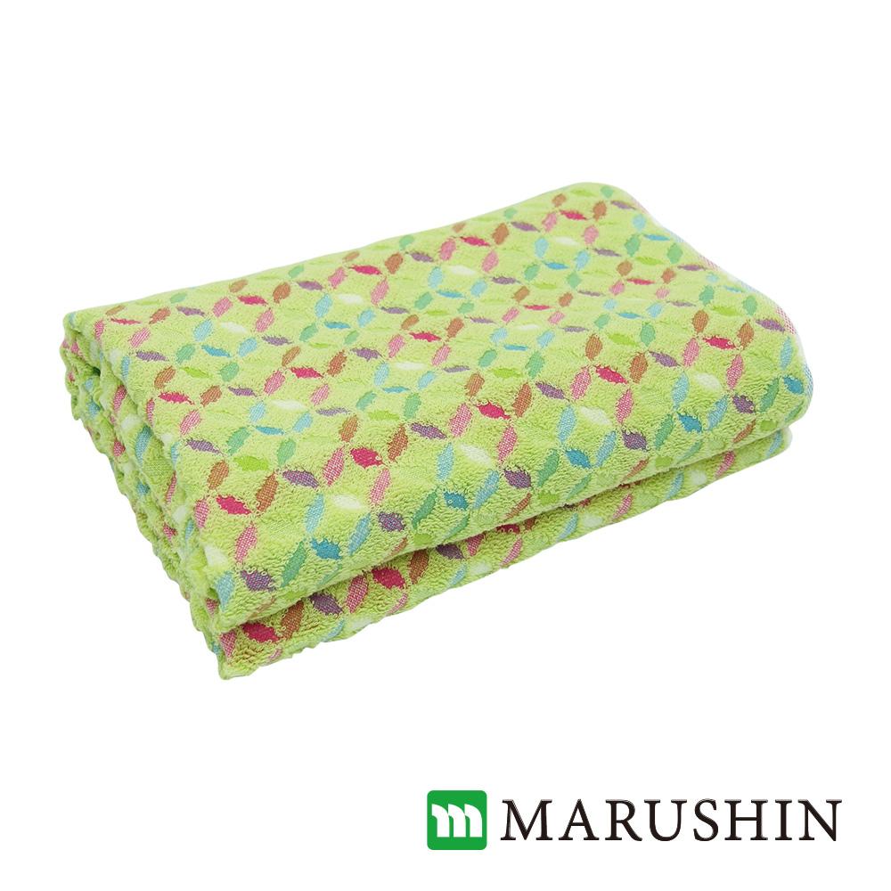 日本丸真 今治浴巾 繽紛花火-草綠色