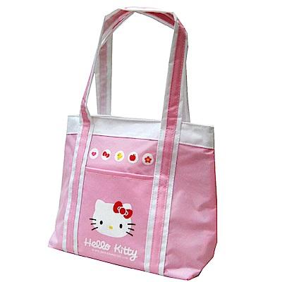 Hello Kitty 凱蒂貓 保溫防水手提萬用餐袋(甜蜜粉)