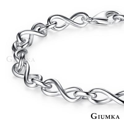 GIUMKA純銀手鍊 無限符號925純銀-銀色