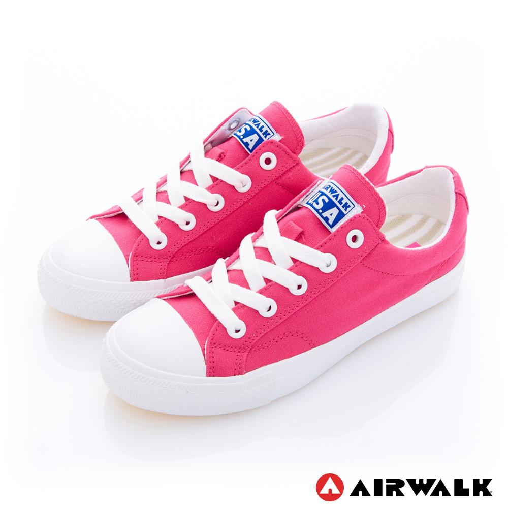 美國 AIRWALK流行百搭帆布鞋-女款(桃紅)