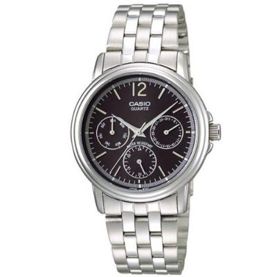 CASIO 簡約經典時尚三眼指針腕錶(MTP-1174A-1A)黑面/44.9mm
