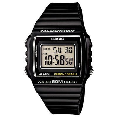 CASIO 超亮LED大螢幕方形數位錶(W-215H-1A)-酷炫黑/40mm