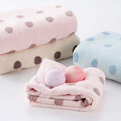 CB 泡泡糖 點點系列超細纖維 3 倍吸水浴巾