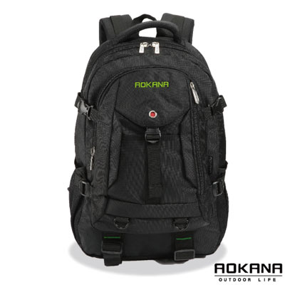 AOKANA奧卡納 台灣釦具 輕量防潑水護脊紓壓機能後背包(綠/黑)68-072