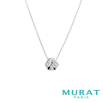 MURAT Paris米哈巴黎 交錯線條六角型項鍊