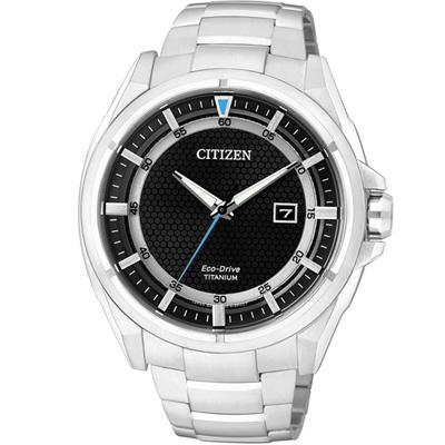 CITIZEN 科技領袖【鈦】時尚腕錶(AW1401-50E)-黑/42mm