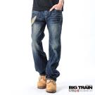 BIG TRAIN 日式潮人經典垮褲-中藍