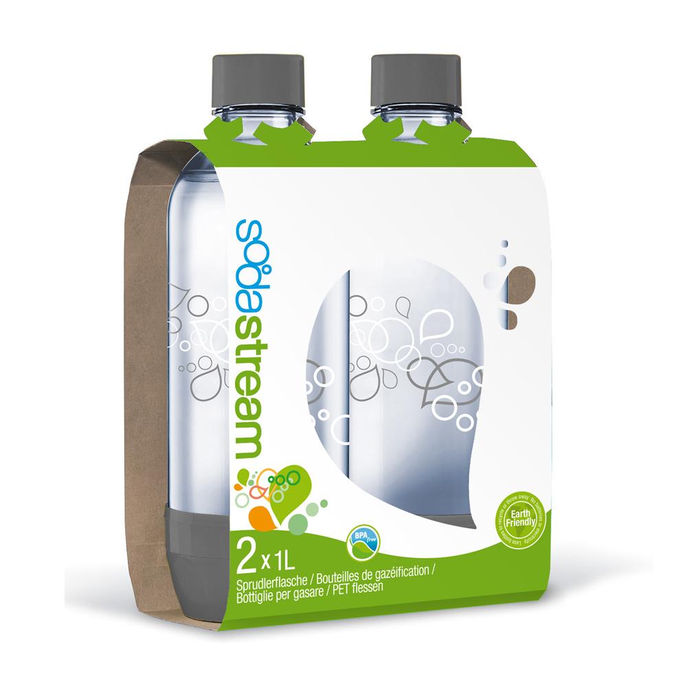 Sodastream寶特瓶1L 2入(灰)