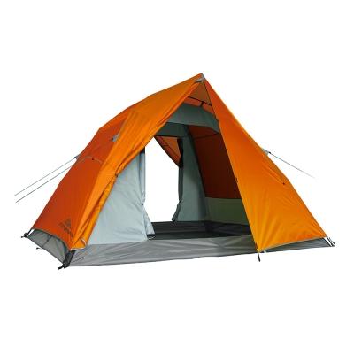 【ATUNAS 歐都納】戶外野趣露營5-6人快速延伸帳蓬寬敞舒適A-TENT1601柑/柑