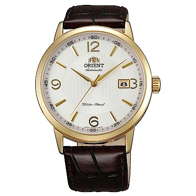 ORIENT 英倫爵士自動上鍊機械腕錶(FER27004W0)-白/41mm