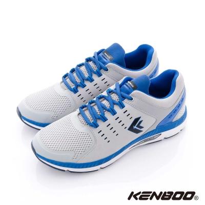 KENBOO(男)- 陽光男孩 透氣蜂巢運動鞋-藍白