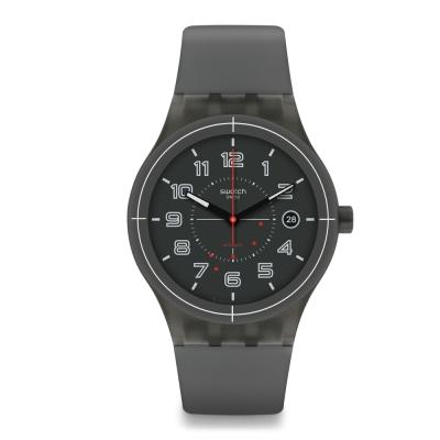 Swatch 51號星球機械錶 SISTEM ASH 灰色塵埃手錶