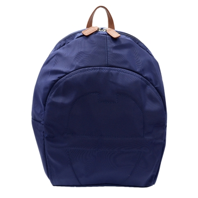 AIGNER A LOGO尼龍後背包(大)-深藍