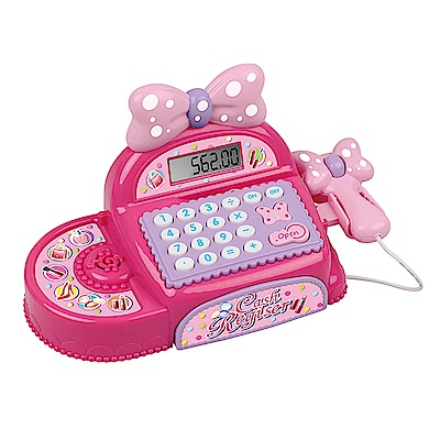 家家酒玩具 音效粉紅蝴蝶結收銀機 35562