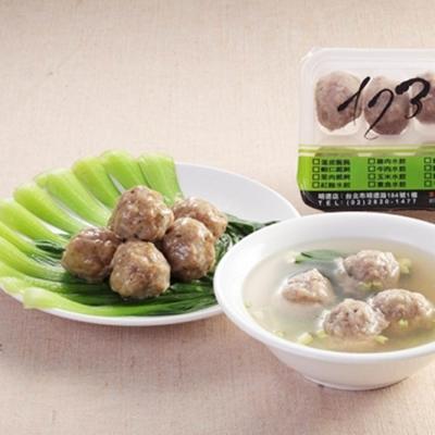 台北士東市場123水餃 手工牛肉丸(10顆/盒)