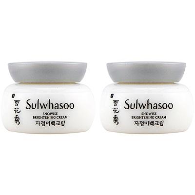 即期品 Sulwhasoo雪花秀 滋晶雪瀅煥白乳霜5ml~2