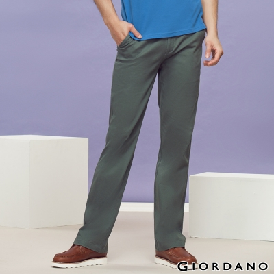 GIORDANO-男裝中腰標準直筒彈性休閒褲-67